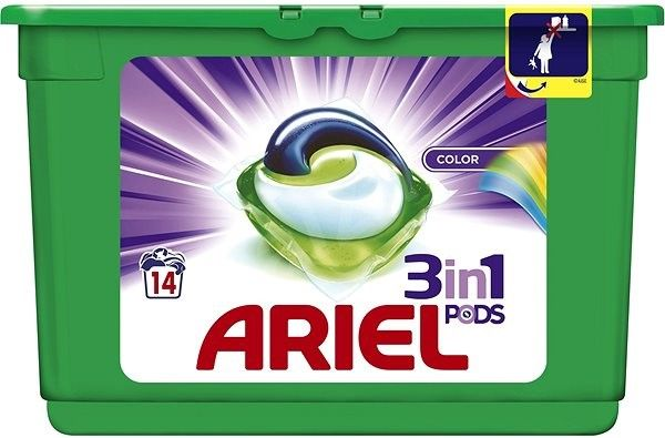 Tablety do pračky Ariel Color 3v1 14 ks -